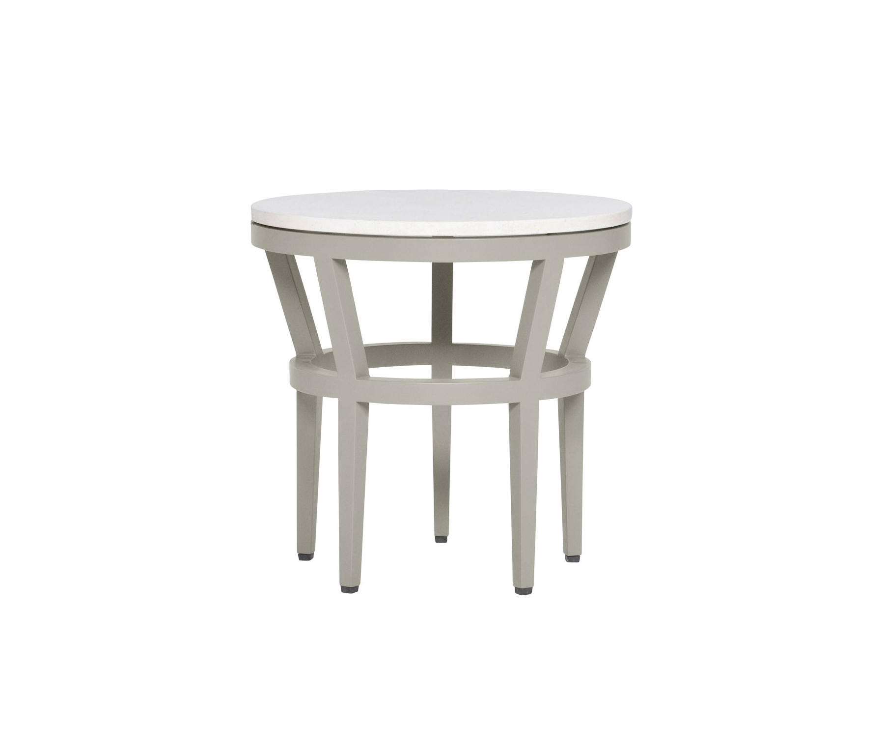 Slant Stone Top Side Table Round 51 Side Tables From