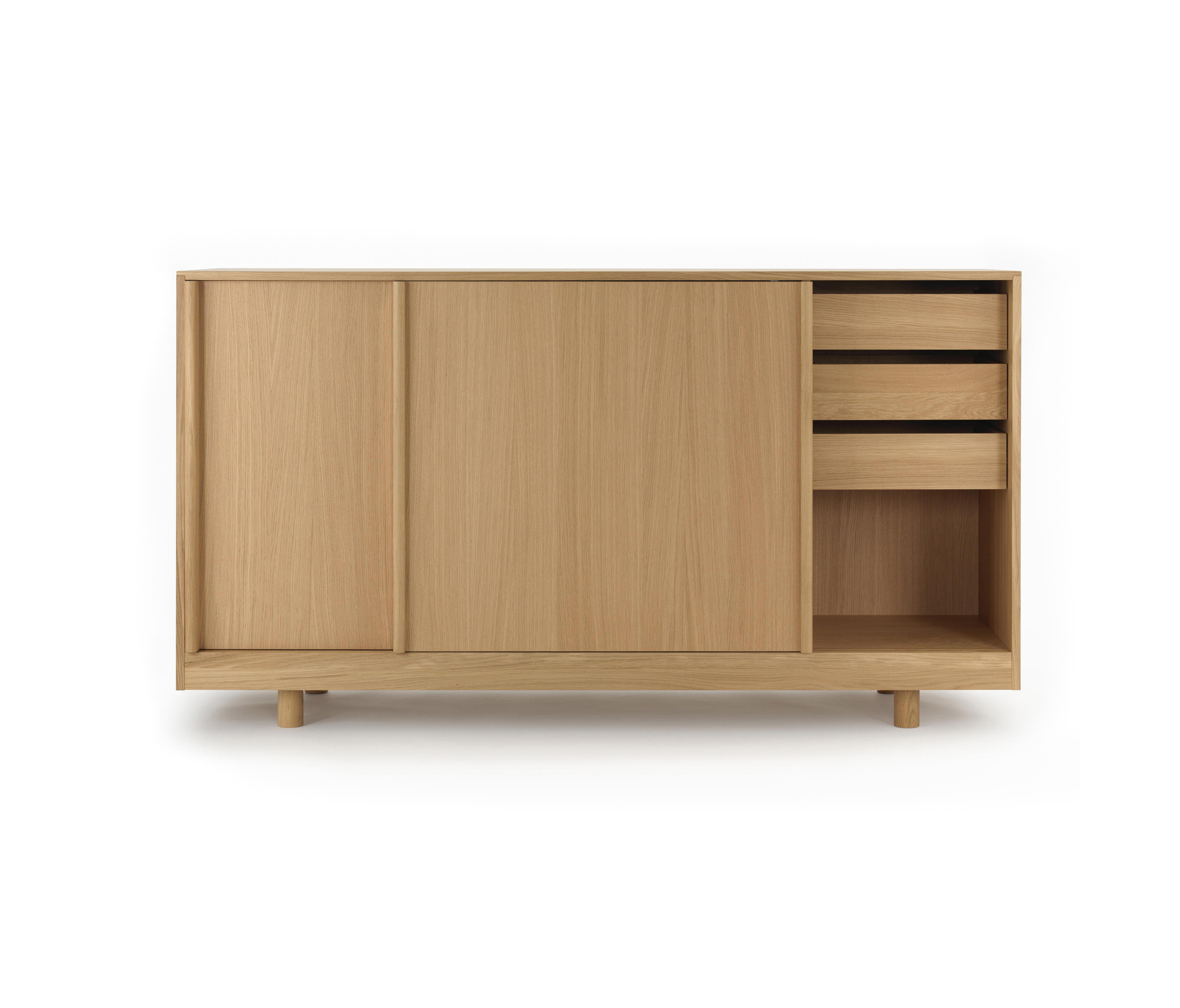 Sideboard With Sliding Doors Natural Oak Sideboards From Bautier