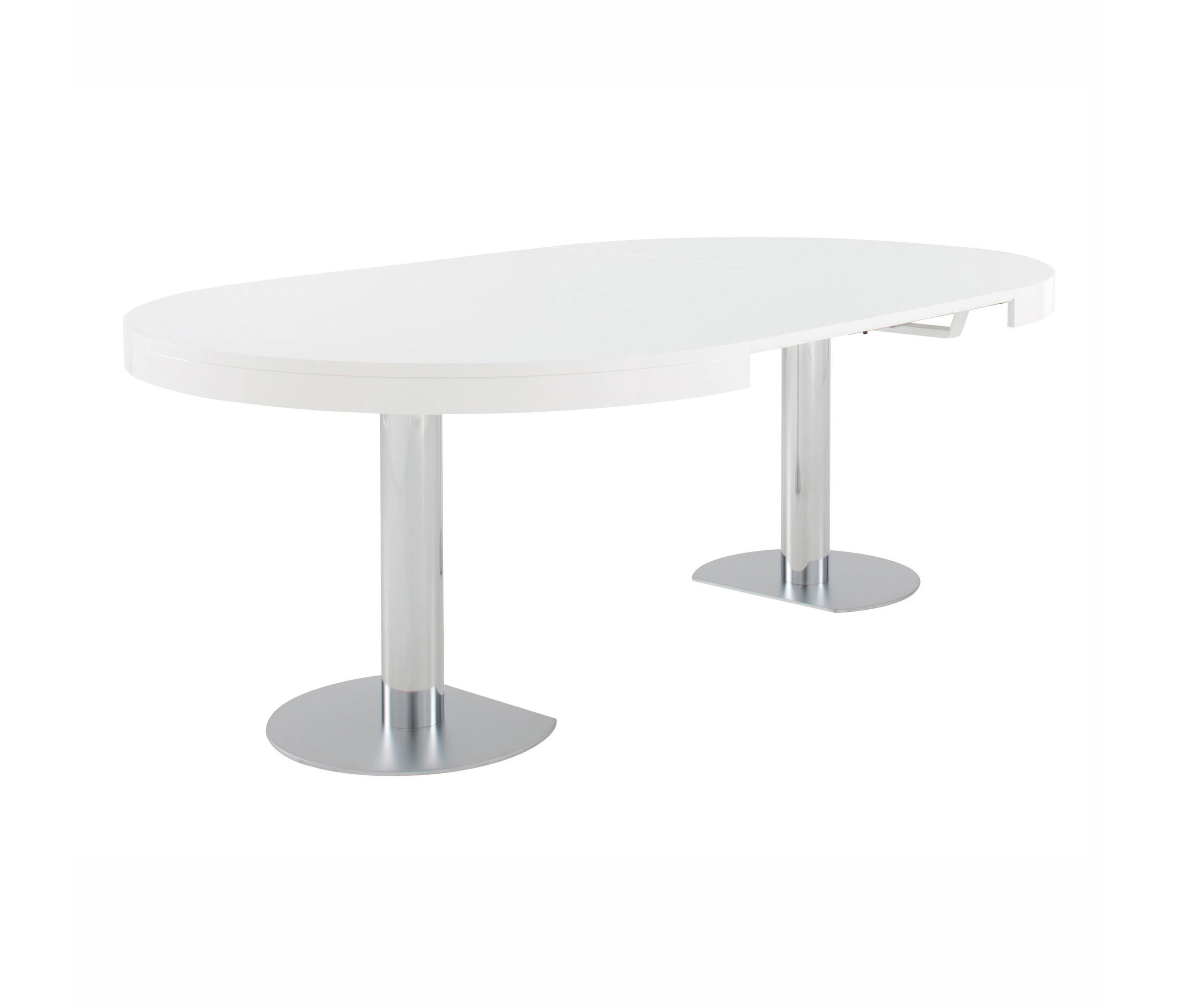 CRAFT 2 | DINING TABLE GLOSS WHITE LACQUERED TOP + MATCHING ...