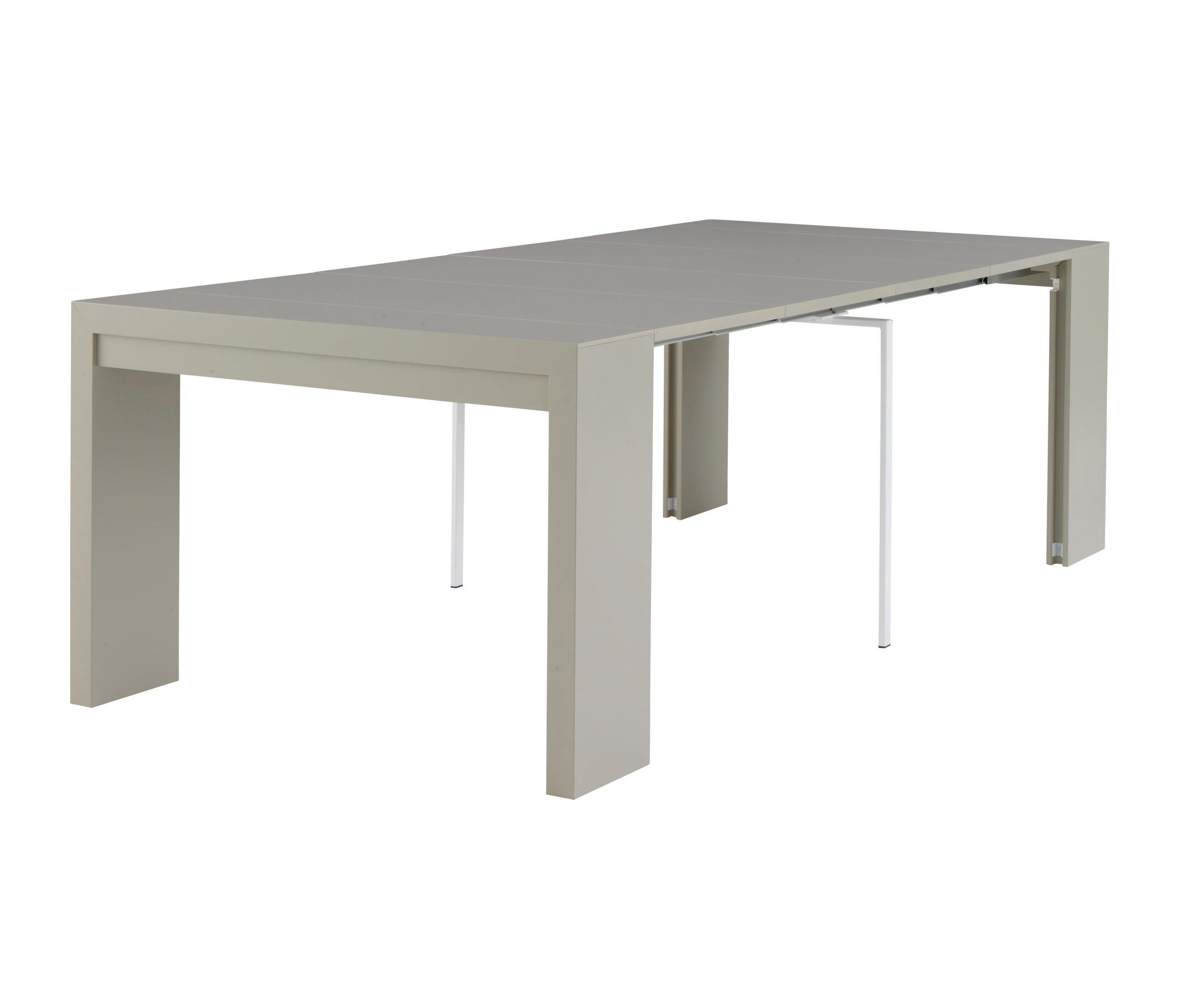 Doppio Console Extensible Laque Argile Tables De Repas De Ligne