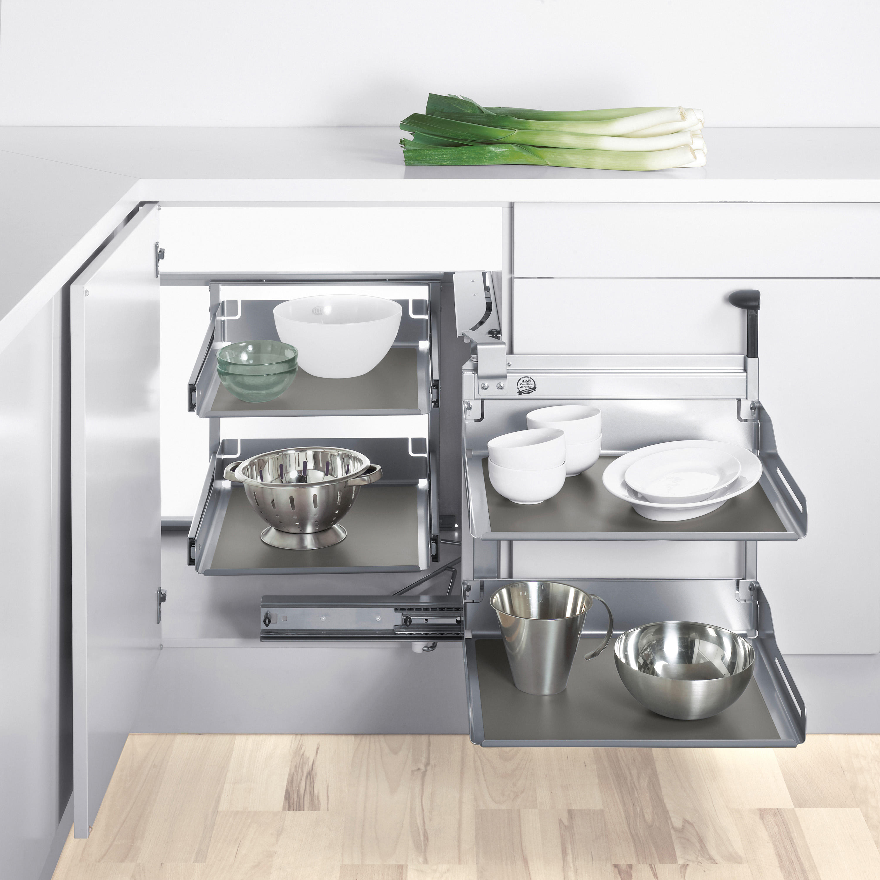 Magic Corner Comfort Pull Out By Peka System Kitchen Organization