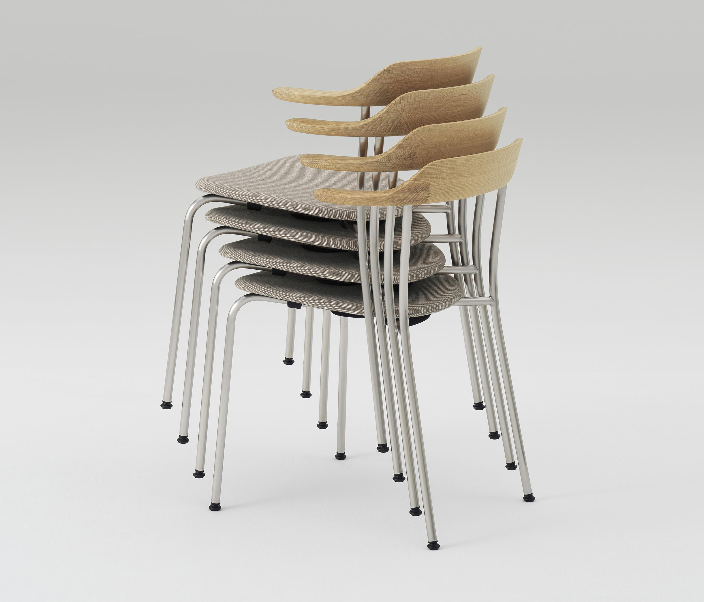 ... Hiroshima Arm Chair Stackable (Cushioned) By MARUNI | Chairs
