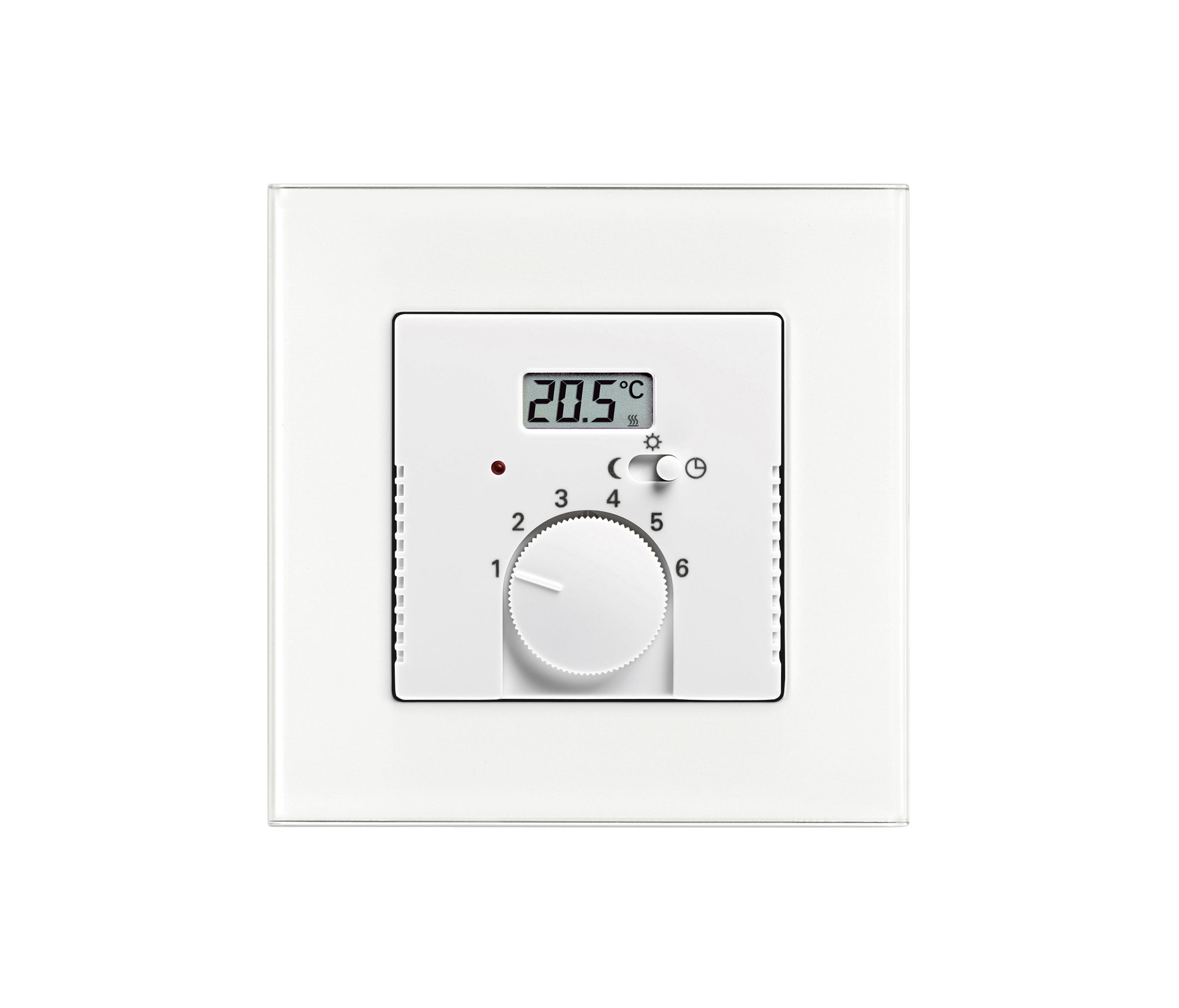 Room temperature controller with value display by busch jaeger heating air conditioning