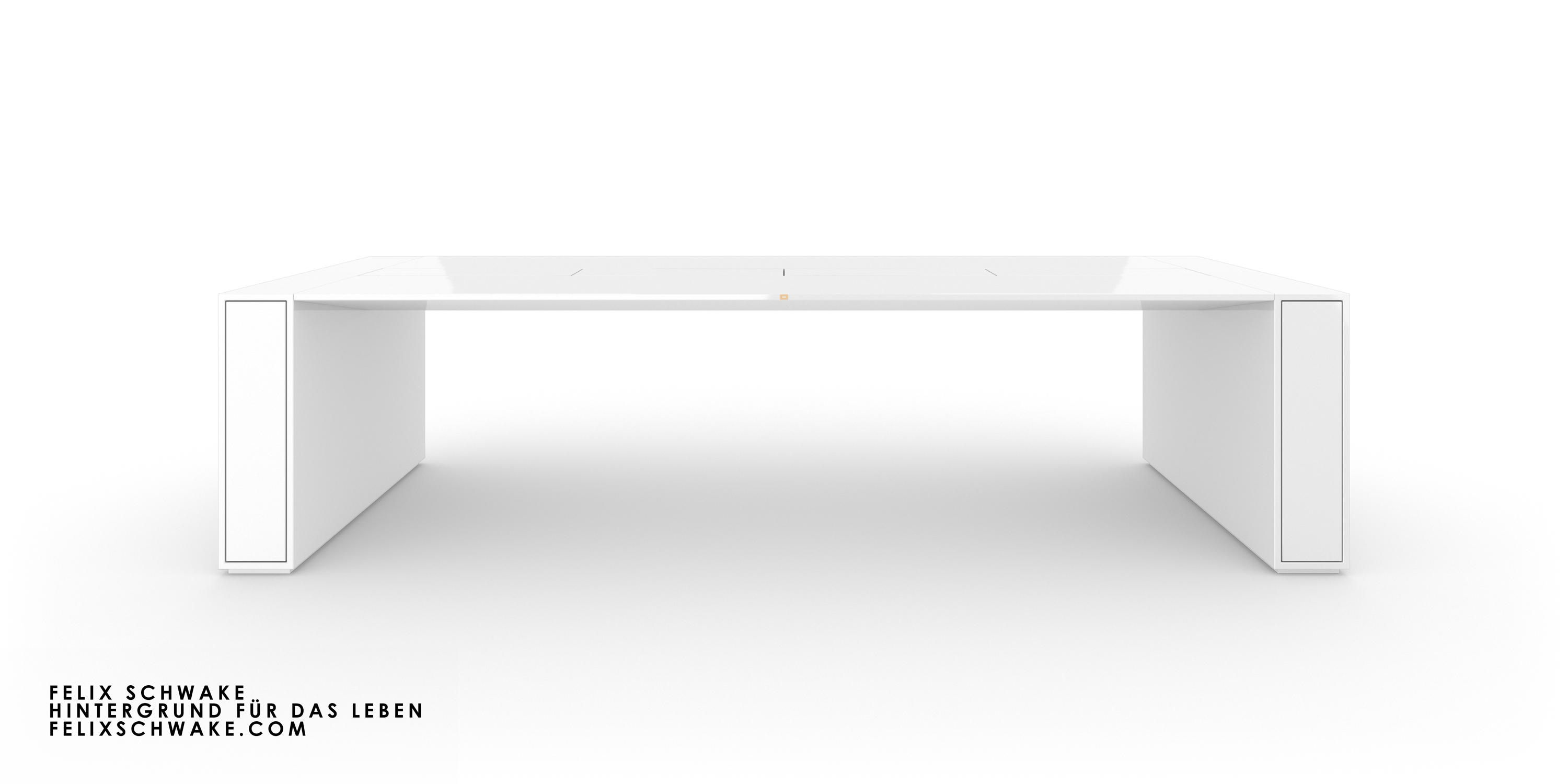 Conference Table I Special Edition Piano Lacquer White