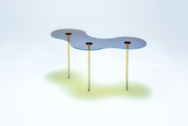 Camo B Glass Blue Orange Coffee Tables From Neo