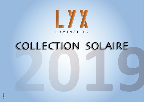 Collection Solaire 2019