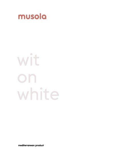 WIT ON WHITE
