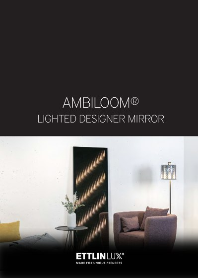 Ambiloom® | Lighted Designer Mirror
