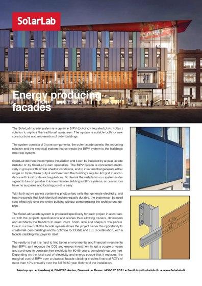 Energy producing facades