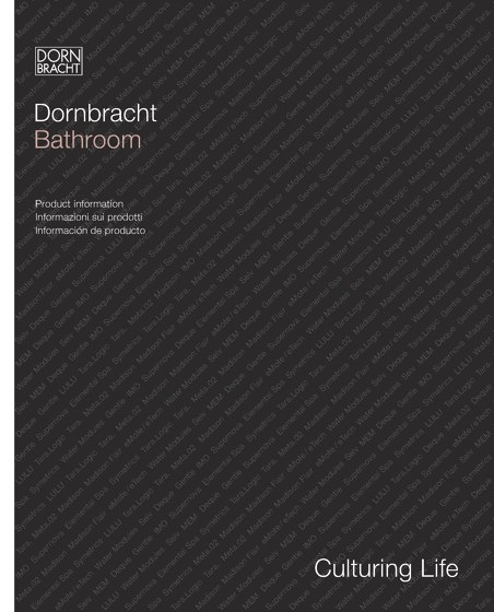 Dornbracht Bathroom Produktinformation 2014