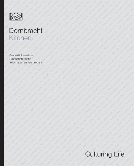 Dornbracht Kitchen Produktinformation 2015
