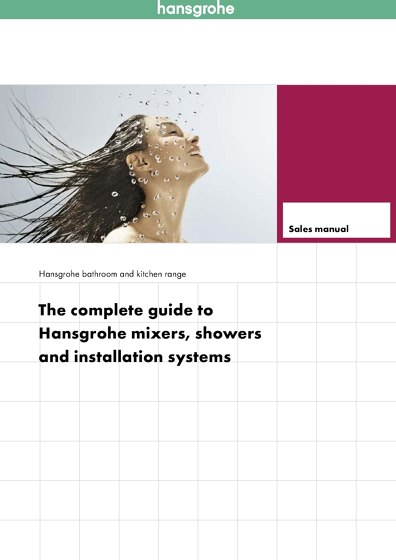 Hansgrohe Sales Manual 2015