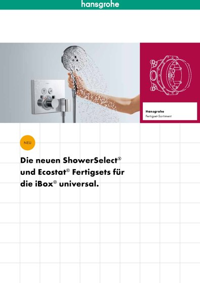 Hansgrohe Unterputzsortiment 2014
