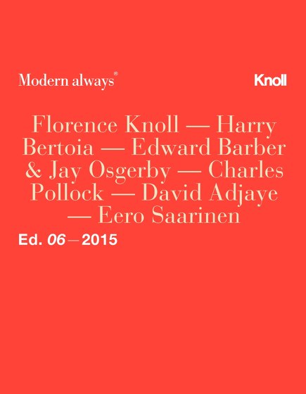 Knoll Studio New Additions 2015