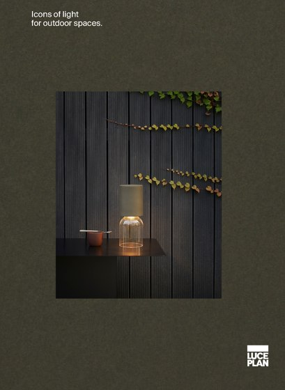 Icons of light for outdoor spaces.