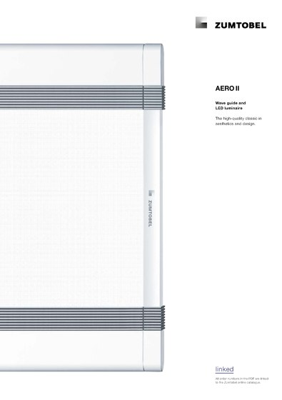 AERO II | Wave guide and LED luminaire
