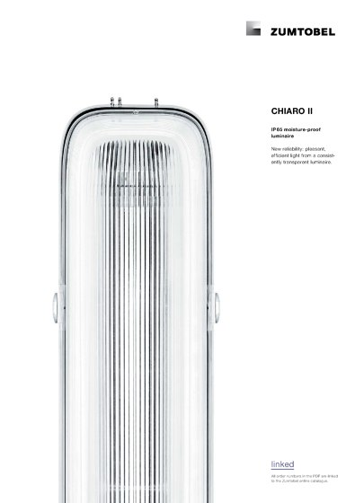 CHIARO II | IP 65 moisture-proof luminaire