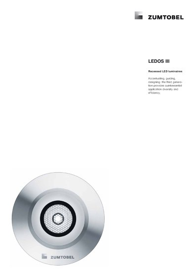 LEDOS III | Recessed LED luminaires