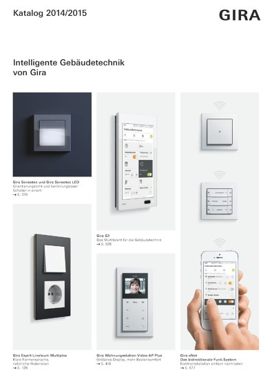 Intelligente Gebäudetechnik von Gira 2014/2015