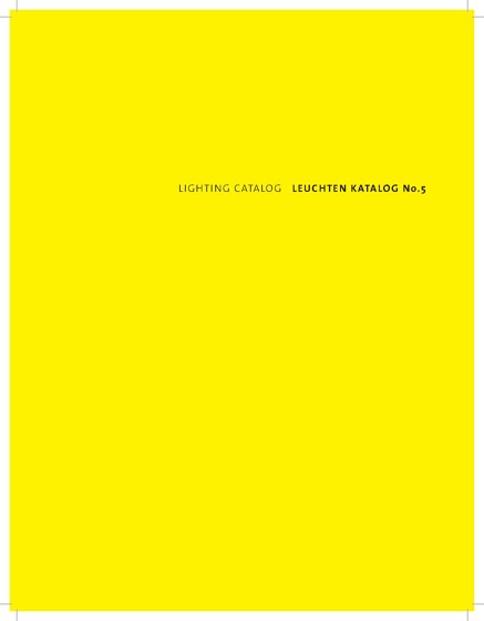 LIGHTING CATALOG No.5