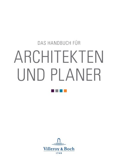 Villeroy & Boch | DAS HANDBUCH FÜR ARCHITEKTEN UND PLANER