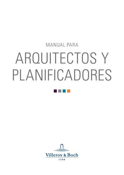 Villeroy & Boch | MANUAL PARA ARQUITECTOS Y PLANIFICADORES