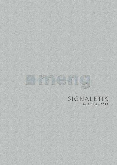 Signaletik Produktlinien 2019