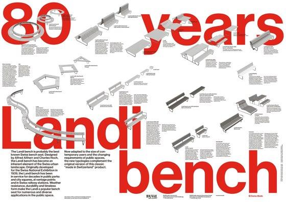 80 years Landi bench