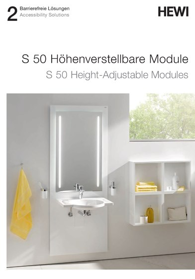 HEWI - S 50 Height-Adjustable Modules