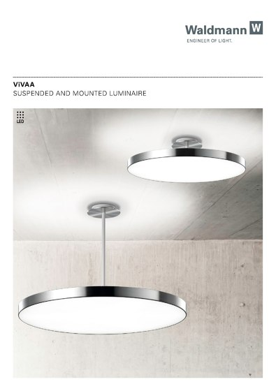 VIVAA Suspended and Mounted Luminaire 2015