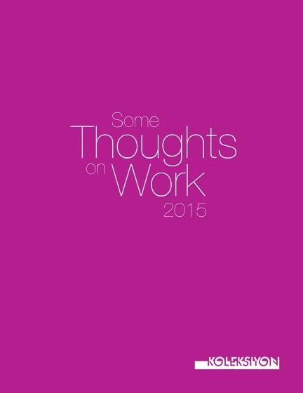 Koleksiyon Some thoughts on work