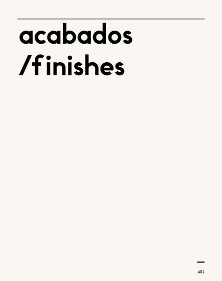 Acabados/Finishes