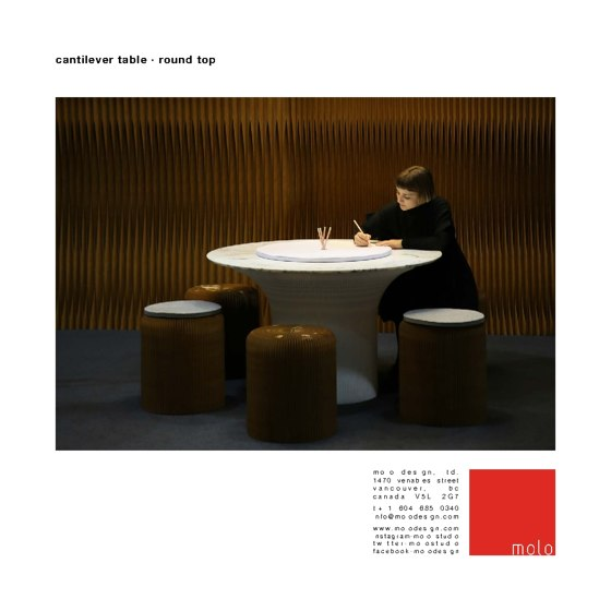 cantilever table ⋅ round top