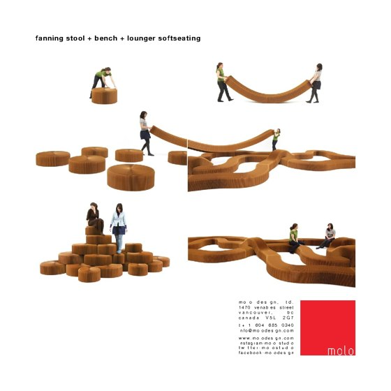 fanning stool + bench + lounger softseating