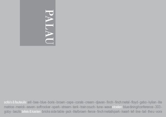 Palau Collection 2015