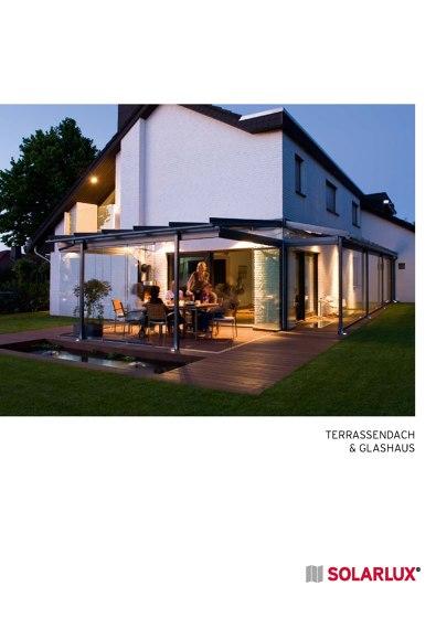 Terrassendach und Glashaus