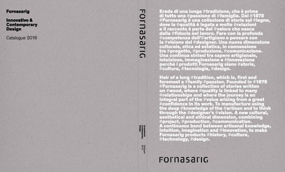 Fornasarig Catalogue 2016