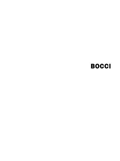 Bocci Catalogue 2015