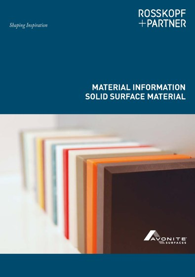 MATERIAL INFORMATION SOLID SURFACE MATERIAL