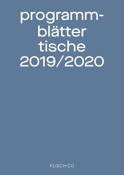 Programmblätter Tische 2019 / 2020