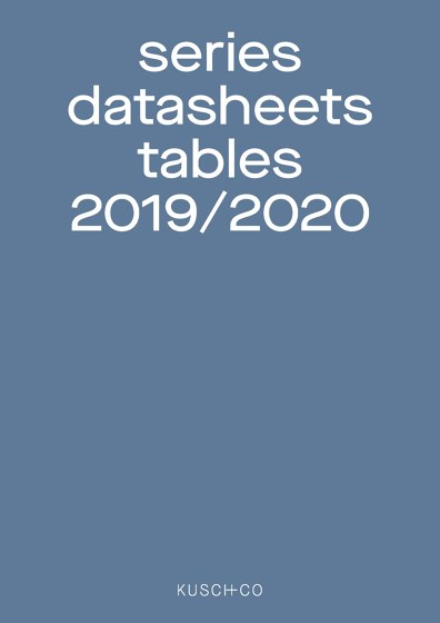 series datasheets tables 2019 / 2020
