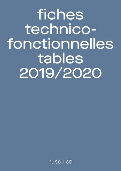 fiches technico-fonctionnelles tables 2019 / 2020