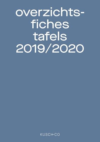 overzichts-fiches tafels 2019 / 2020