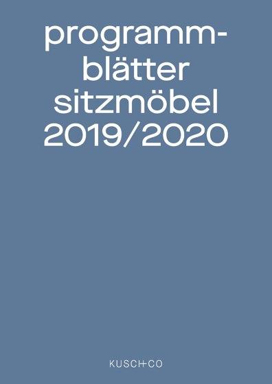 Programmblätter Sitzmöbel 2019 / 2020
