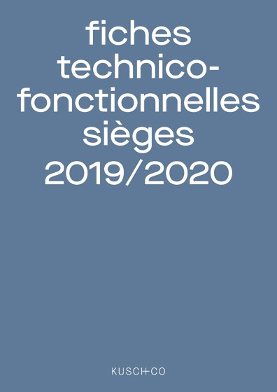 Fiches technico-fonctionnelles sièges 2019 / 2020