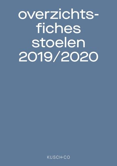 overzichts-fiches stoelen 2019 / 2020