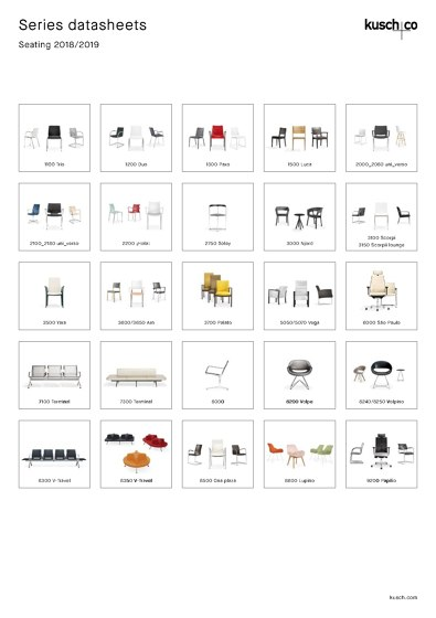 Kusch+Co Series Datasheets Seating 2018/2019