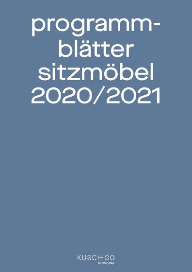 Programm Blätter Sitzmöbel 2020/2021