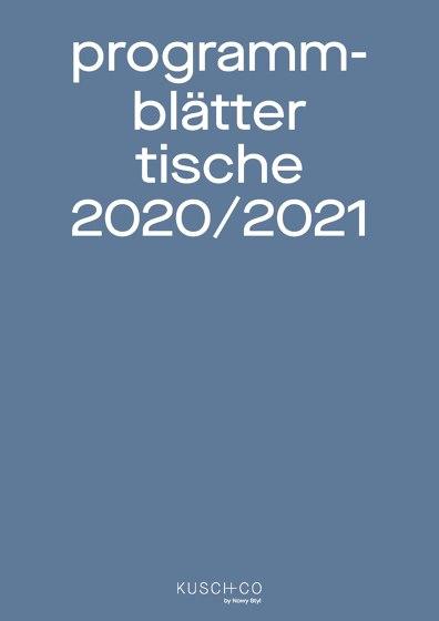 Programm Blätter Tische 2020/2021