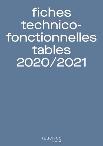 Fiches Technico Fonctionnelles Tables 2020/2021